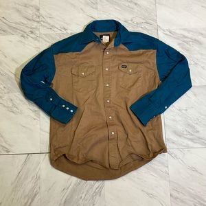 Vintage wrangler Pearl snap button up